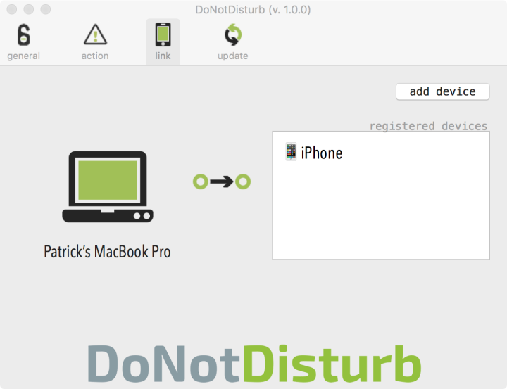 Do not disturb emparejar Macbook y iPhone