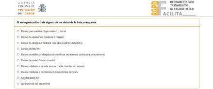 Herramienta Facilita - AEPD - RGPD (2)