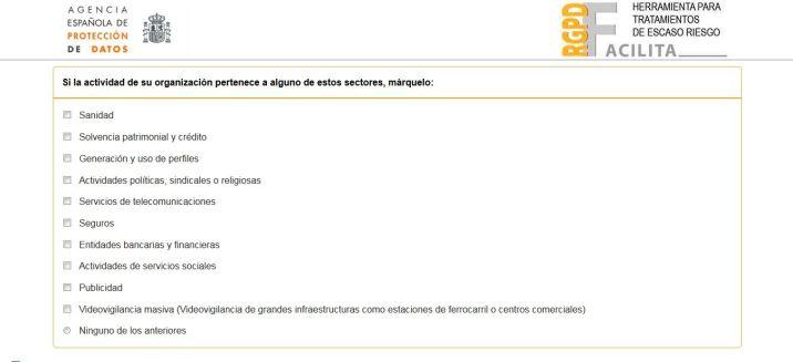 Herramienta Facilita - AEPD - RGPD