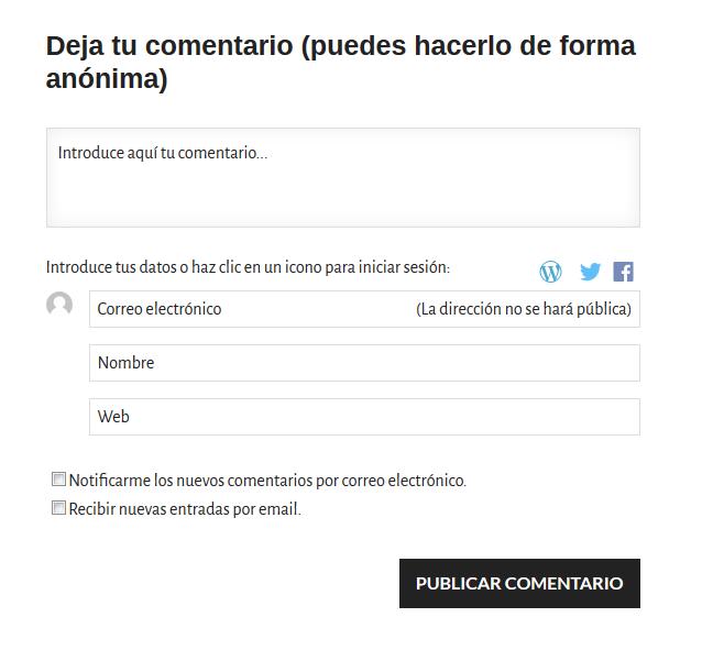 Uso de comentarios en Protegermipc.net