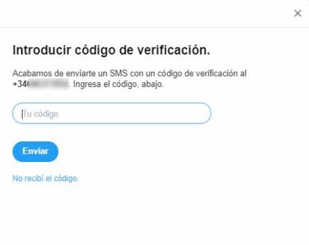 Verificación en dos pasos Twitter 4