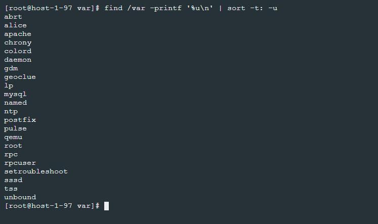 Visualizar los propietarios de ficheros en Linux con el comando find
