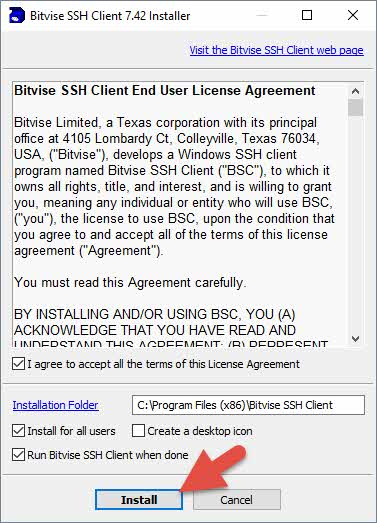 Instalar Bitvise SSH Client