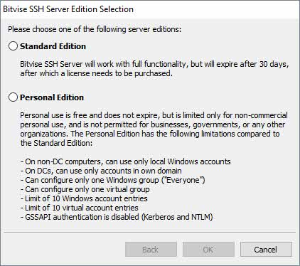 Licencias Servidor SSh Bitvise