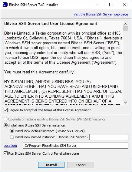 Servidor SSH Bitvise