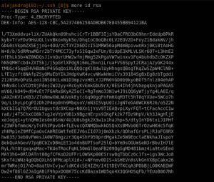 Clave privada SSH