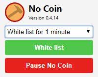 Extensión No Coin Google Chrome