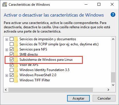 Instalar bash en Windows 10 5