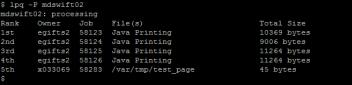 lpq -p impresora