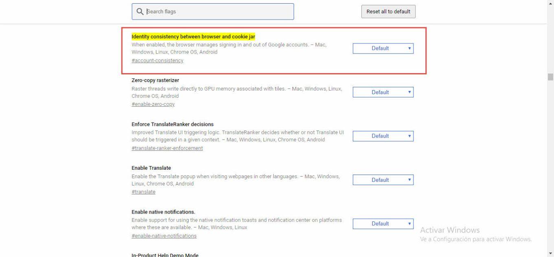 Desactivar inicio de sesión forzado en Google Chrome