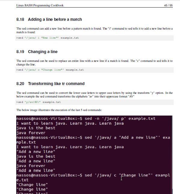 Linux Bash Programming cookbook