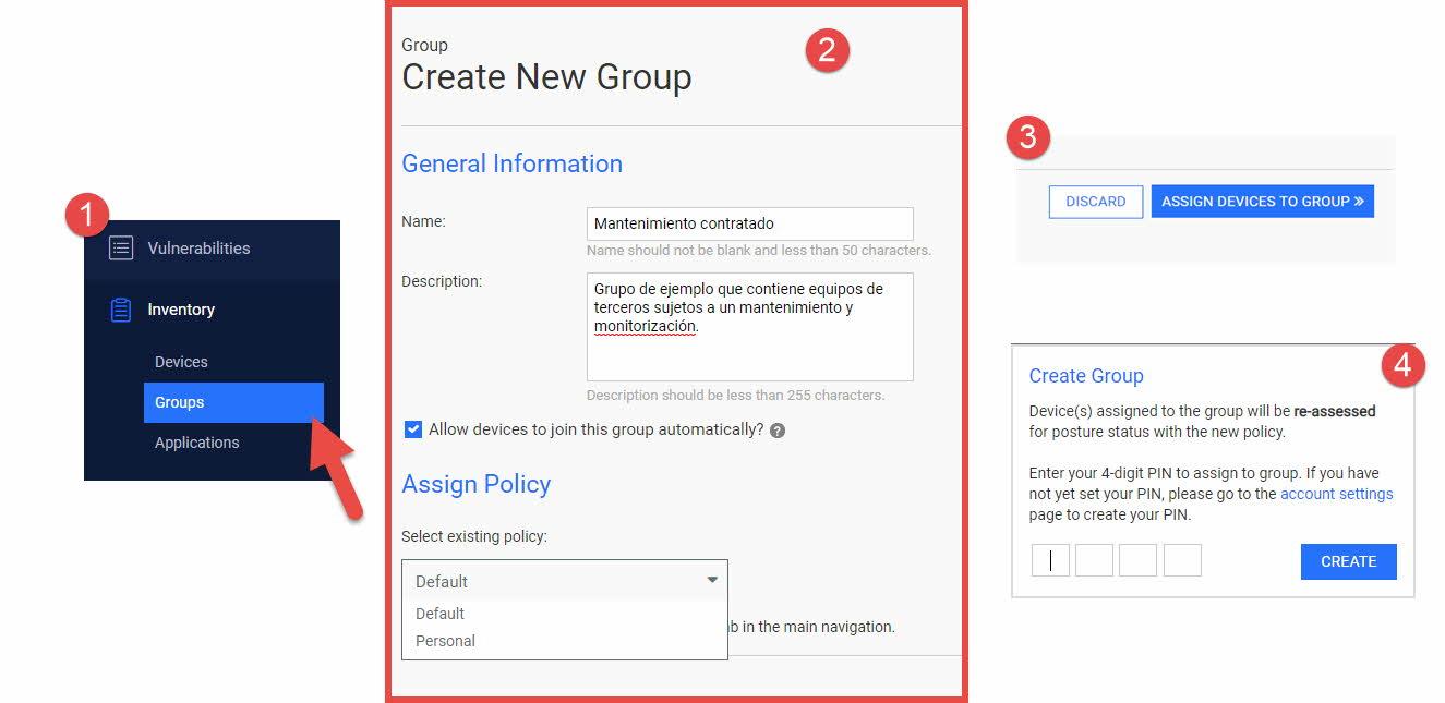 Opswat MetaAccess - Añadir dispositivo a grupo