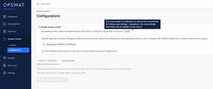 Opswat MetaAccess - Control de acceso