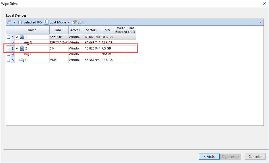 Preparar unidad USB para Encase Imager - Formatear dispositivo 2