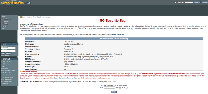 SG Security Scan
