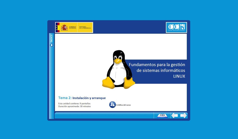 Curso gratuito de linux del CCN-CERT