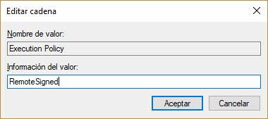 Habilitar scripts en powershell mediante editor del registro 2