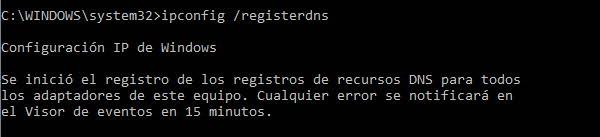 ipconfig registerdns