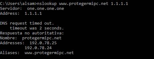 nslookup host servidor