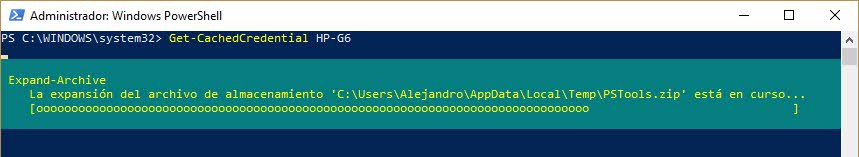 Powershell Get-CachedCredential