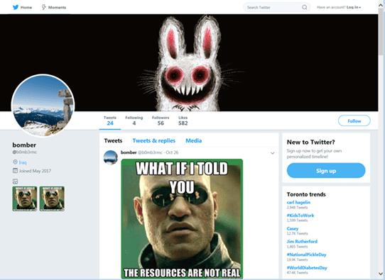 BERBOMTHUM - malware controlado mediante memes en Twitter