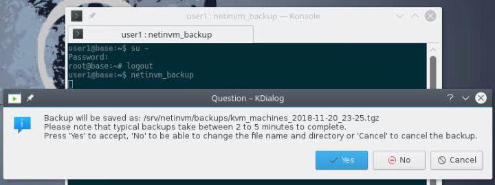 Backup netinvm