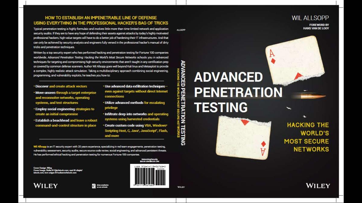 Descarga este libro de pentesting gratuito de Wiley (por tiempo limitado)