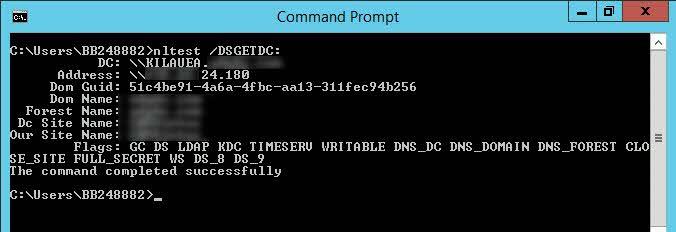 Como ver controlador de dominio al que está conectado el equipo
