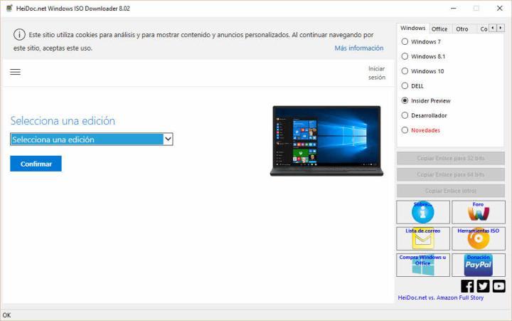 Descarga ISO de Windows - Office con Windows ISO Downloader