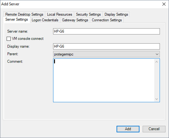 Remote Desktop Connection Manager (RCDMan)
