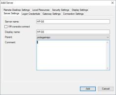Remote Desktop Connection Manager (RCDMan)