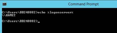 ver el controlador de dominio al que un usuario está conectado