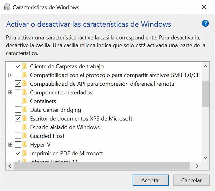 Activar espacio aislado de Windows 10 Pro