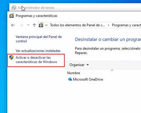 agregar o quitar programas Windows 10