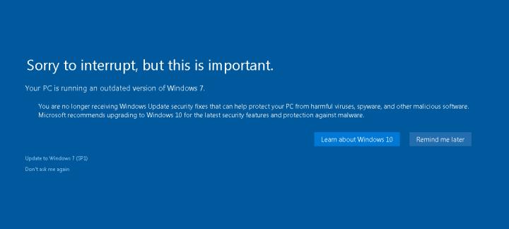 Fin de soporte a Windows 7