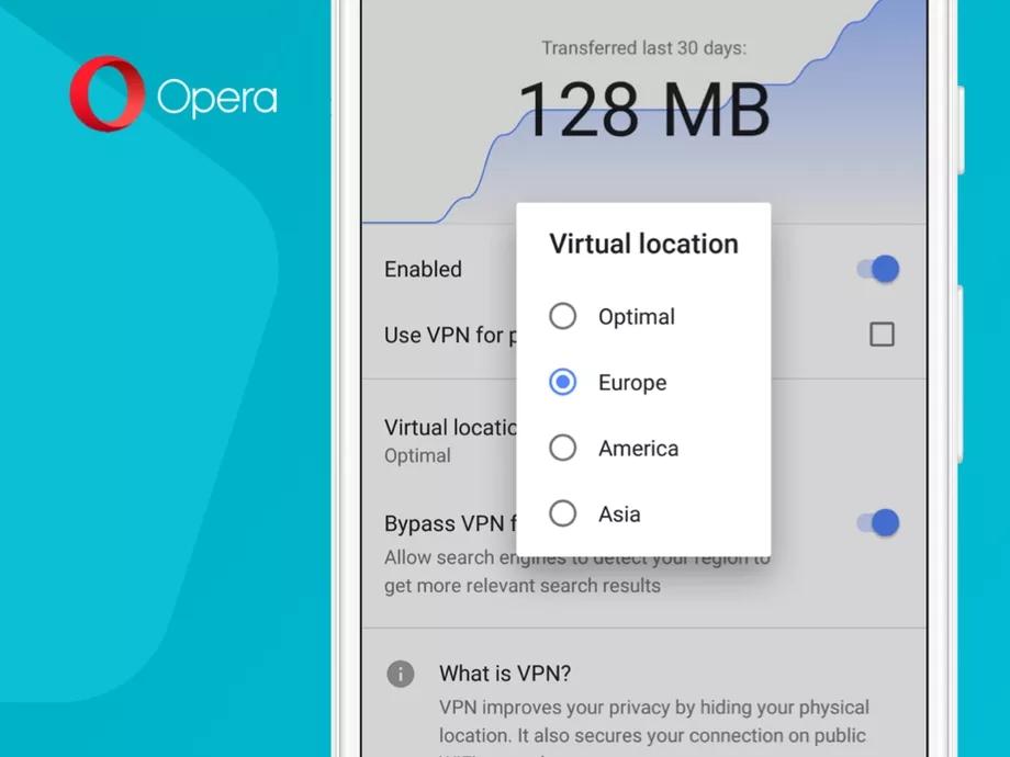 Opera 51 beta VPN