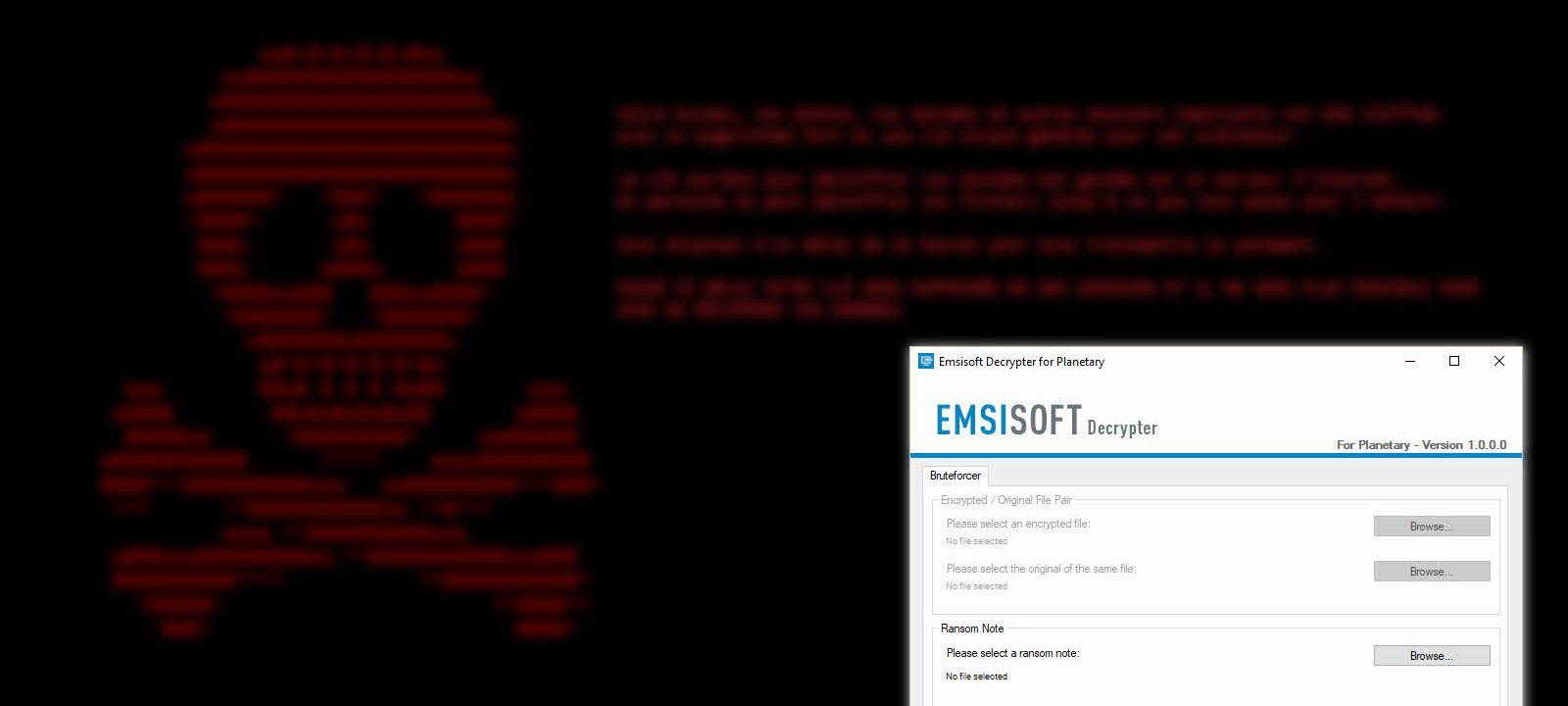 Recuperar archivos ransomware planetary