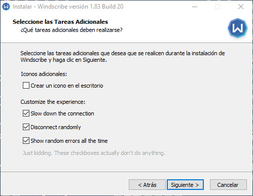 Instalar Windscribe Windows