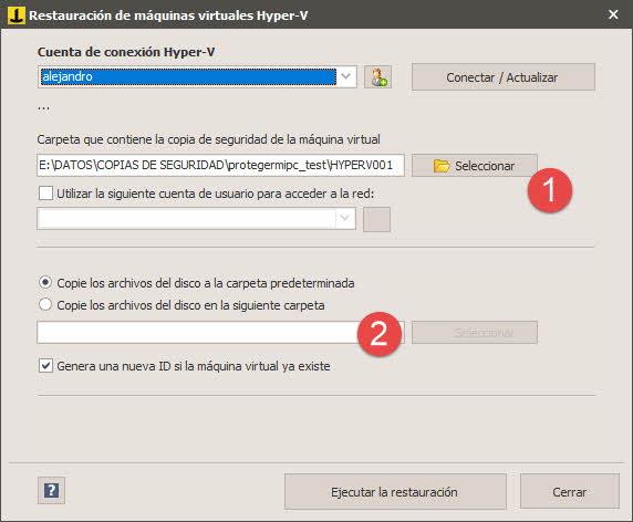Iperius - Restaurar copia de seguridad Hyper-V 2