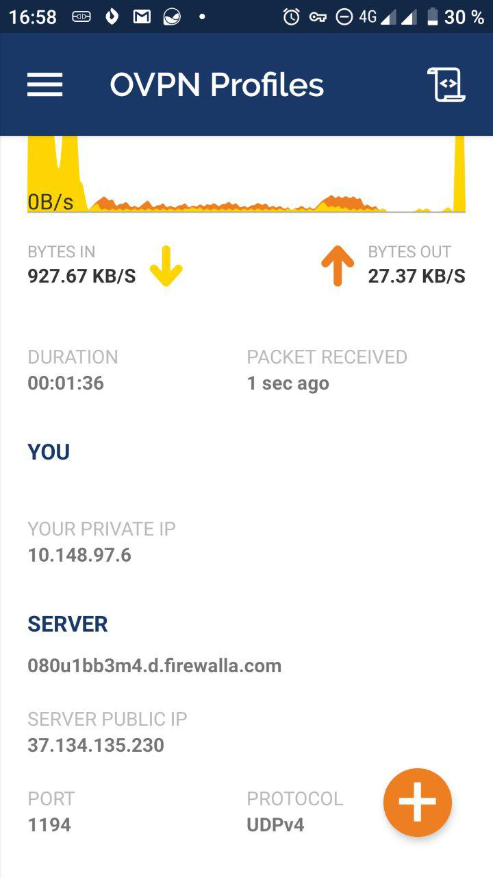 Review de Firewalla - VPN (funcionamiento Android 2)