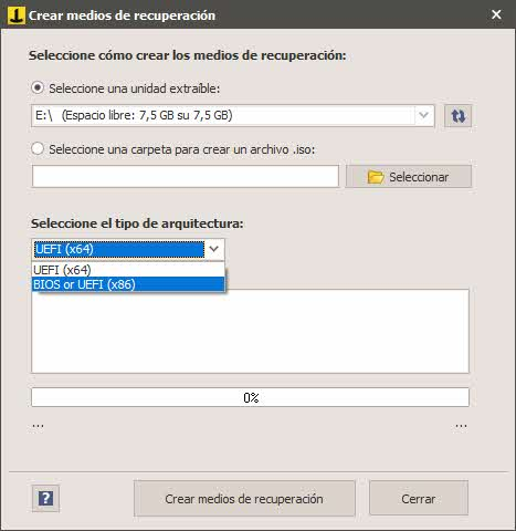 Review Iperius backup - Crear medios de recuperación