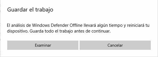 Examen de Windows Defender sin conexión 3
