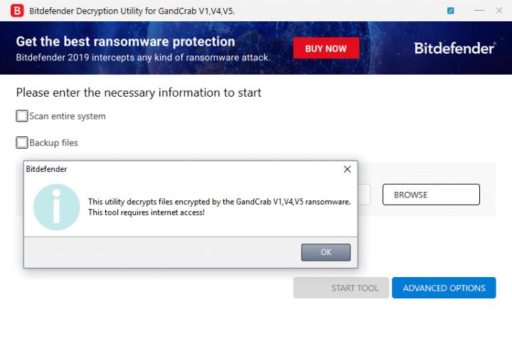 Gandcrab 5.2 decrypter Bitdefender