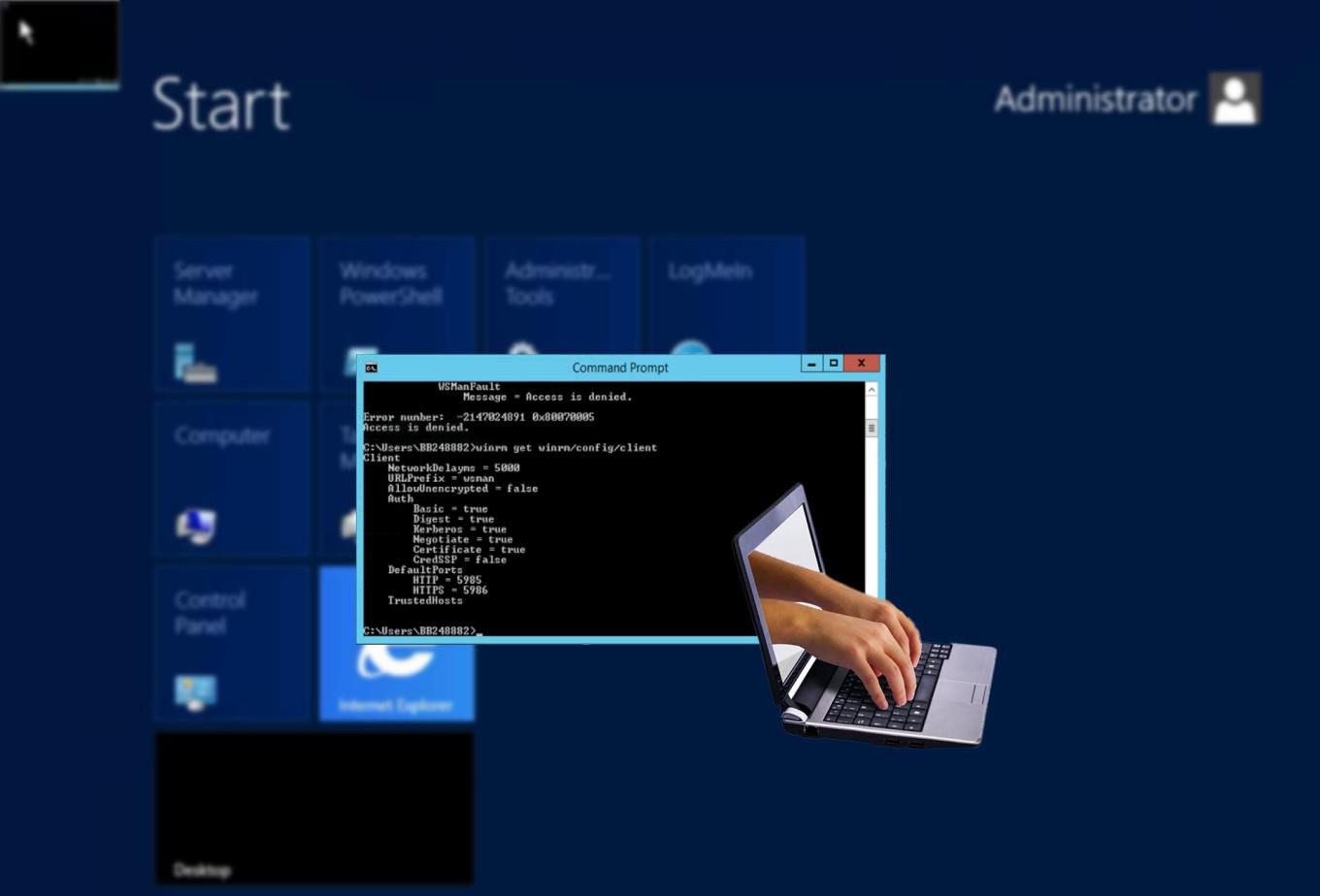 Conectar con servidor Windows remoto usando Powershell o CMD