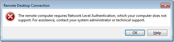 El servidor requiere CredSSP