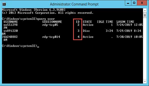 Listar sesiones de usuario por RDP mediante consola en Windows