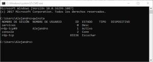 Ver usuarios conectados por escritorio remoto a un servidor Windows