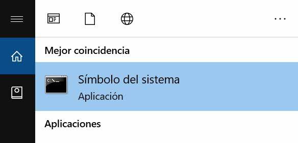 Abrir cmd en Windows 10