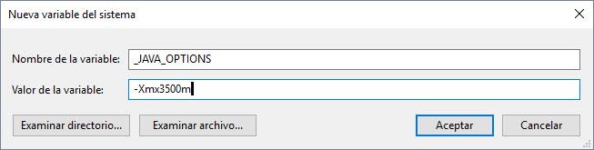 Aumentar la memoria disponible para aplicaciones de Java