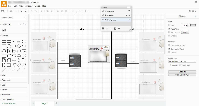 Draw.io - Editar fichero vsd (Visio) con app gratuita